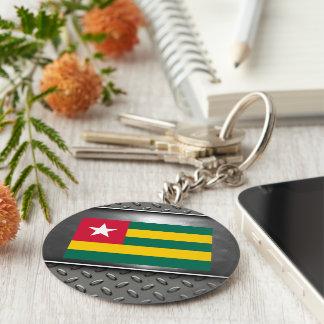 Flag of Togo Basic Round Button Keychain