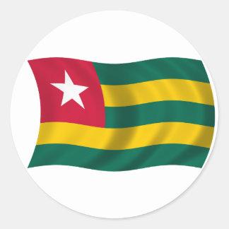 Flag of Togo Classic Round Sticker