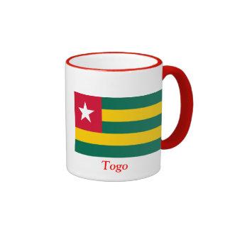 Flag of Togo Ringer Coffee Mug