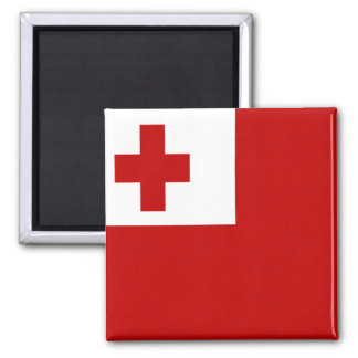 FLAG OF TONGA 2 INCH SQUARE MAGNET