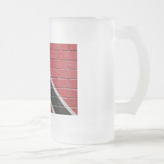 Flag of Trinidad Tobago Frosted Glass Beer Mug