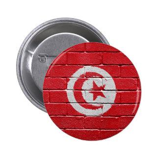 Flag of Tunisia 2 Inch Round Button