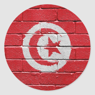 Flag of Tunisia Classic Round Sticker