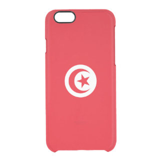 Flag of Tunisia Clear iPhone Case