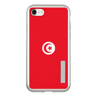 Flag of Tunisia Silver iPhone Case