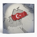Flag of Turkey 3 Ring Binder