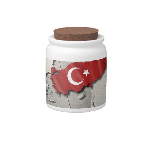 Flag of Turkey Candy Jar