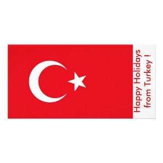 Flag of Turkey, Happy Holidays from Turkey Card