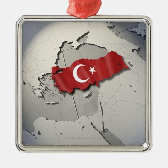 Flag of Turkey Metal Ornament