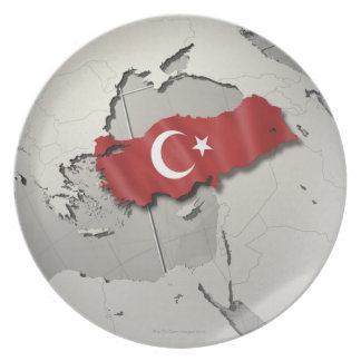 Flag of Turkey Party Plate