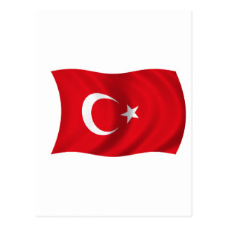Flag of Turkey Post Card