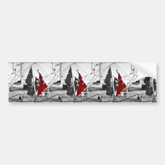 Flag of Turkey - Selective Coloring Bumper Sticker