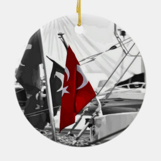 Flag of Turkey - Selective Coloring Ceramic Ornament