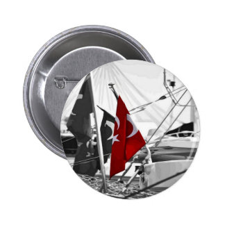 Flag of Turkey - Selective Coloring Pinback Button