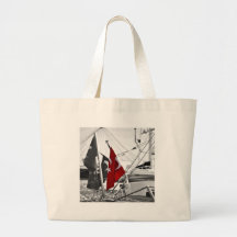 Flag of Turkey - Selective Coloring Tote Bags