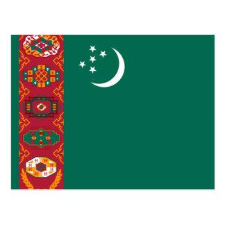 Flag of Turkmenistan Postcard