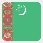 Flag of Turkmenistan Square Sticker