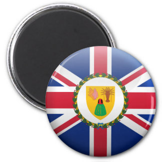Flag of Turks and Caicos Islands 2 Inch Round Magnet
