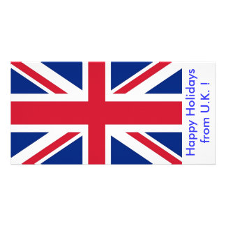 Flag of U.K., Happy Holidays from U.K. Card