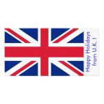Flag of U.K., Happy Holidays from U.K. Photo Card