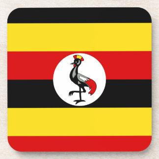 Flag of Uganda Beverage Coaster