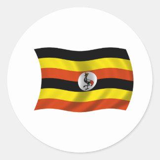 Flag of Uganda Classic Round Sticker