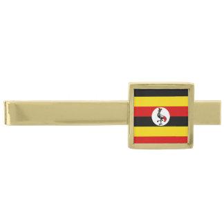Flag of Uganda Gold Finish Tie Clip