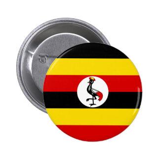 Flag of Uganda Pinback Button