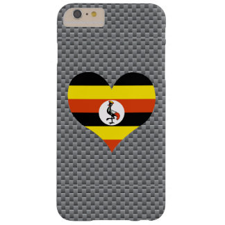 Flag of Ugandan on metal background Barely There iPhone 6 Plus Case