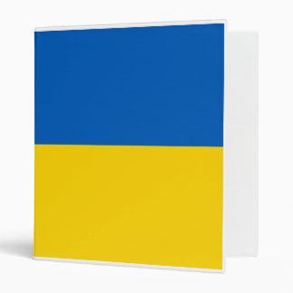 Flag of Ukraine 3 Ring Binder