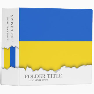 Flag of Ukraine Binder