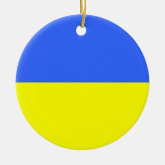 Flag of Ukraine Ceramic Ornament