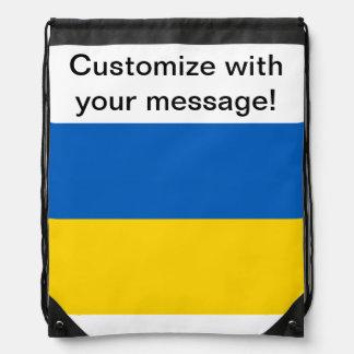 Flag of Ukraine Drawstring Bag