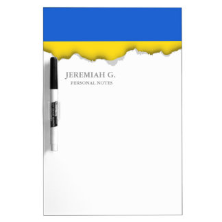 Flag of Ukraine Dry Erase Board
