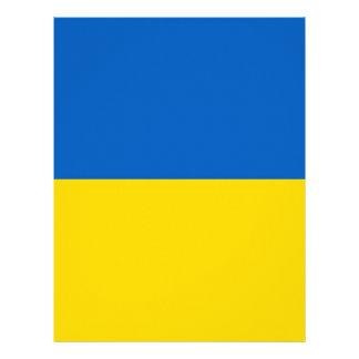 Flag of Ukraine Letterhead Template
