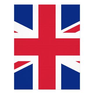 Flag of United Kingdom. Letterhead