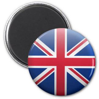 Flag of United Kingdom 2 Inch Round Magnet
