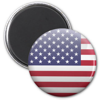 Flag of United States 2 Inch Round Magnet