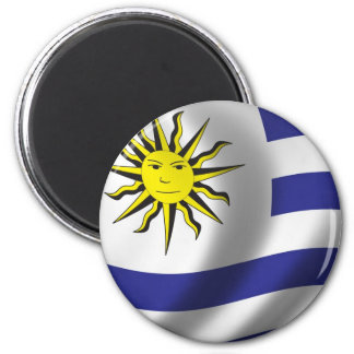 Flag of Uruguay 2 Inch Round Magnet