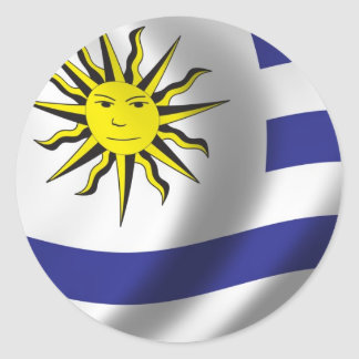 Flag of Uruguay Round Stickers