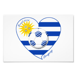Flag of URUGUAY SOCCER champions of world 2014 Photo