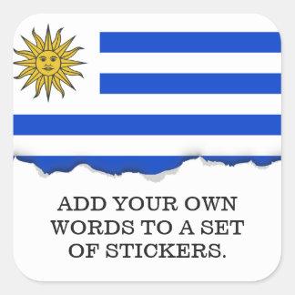 Flag of Uruguay Square Sticker