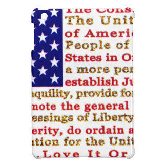 Flag Of USA American With Words the Constitution iPad Mini Covers