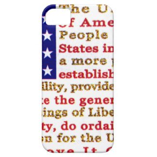Flag Of USA American With Words the Constitution iPhone SE/5/5s Case