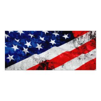 """Flag Of USA 4"""" X 9.25"""" Invitation Card"""
