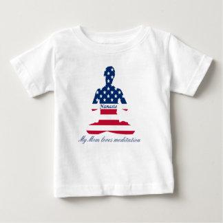 Flag of USA meditation American yoga Baby T-Shirt