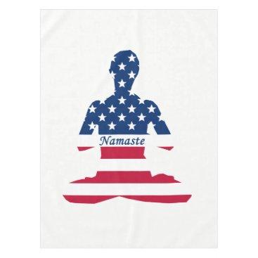 Flag of USA meditation American yoga Tablecloth