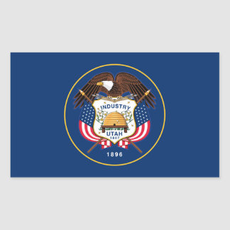 Flag of Utah Rectangular Sticker