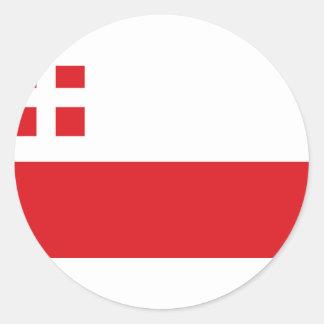 Flag of Utrecht (province) Classic Round Sticker