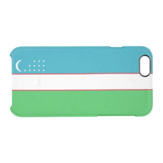 Flag of Uzbekistan Clear iPhone Case